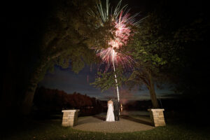 fireworks wedding photography